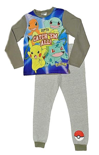 ThePyjamaFactory - Pijama dos piezas - para niño azul azul 11-12 Años