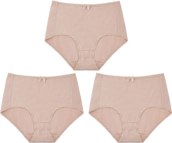 BANUNOS - Bragas de algodón para Mujer (3 Unidades) Beige Color ...