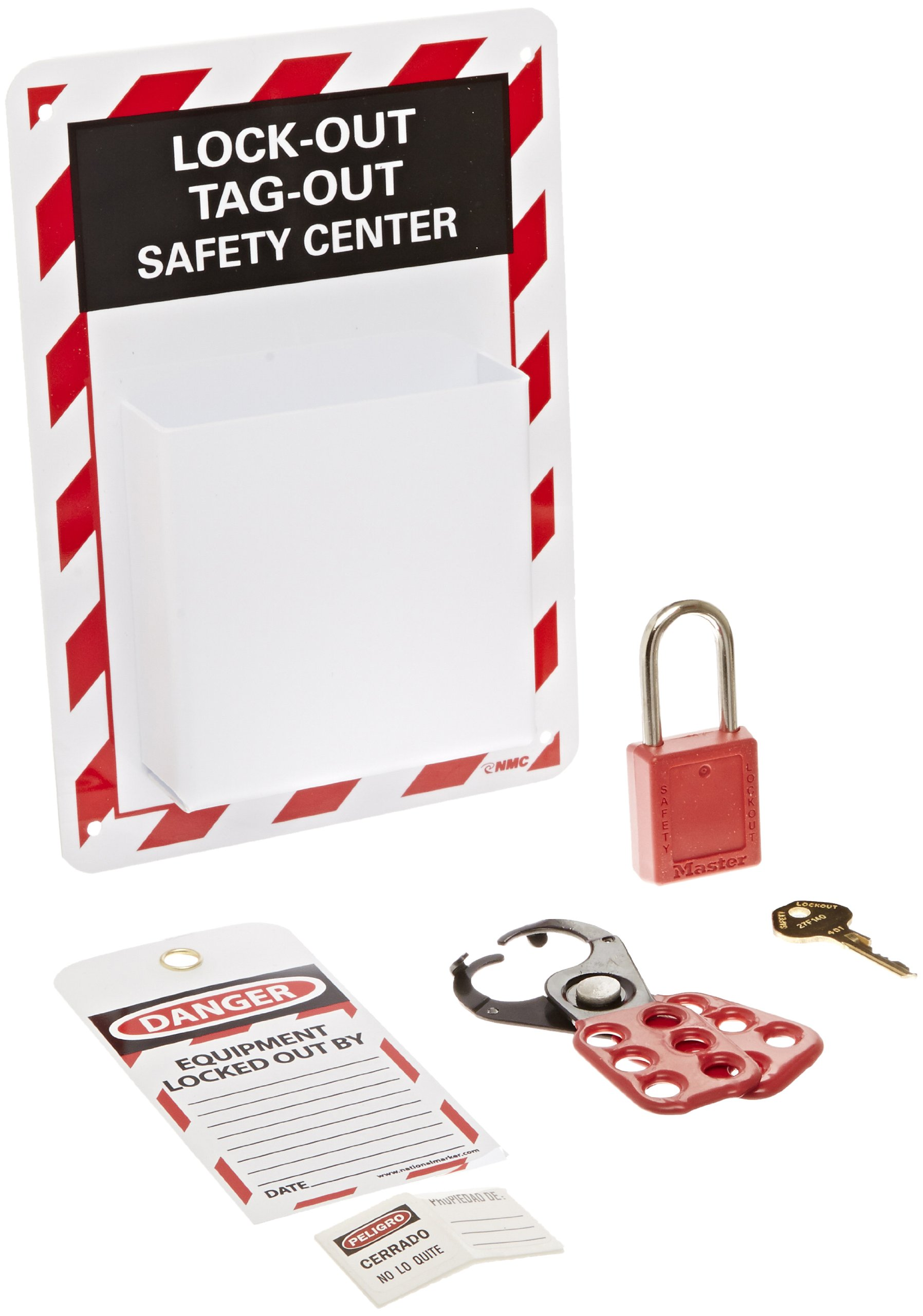 NMC MCLO1 4 Piece High Impact Polystyrene Equipped Micro Lockout Center Kit by NMC (Image #1)