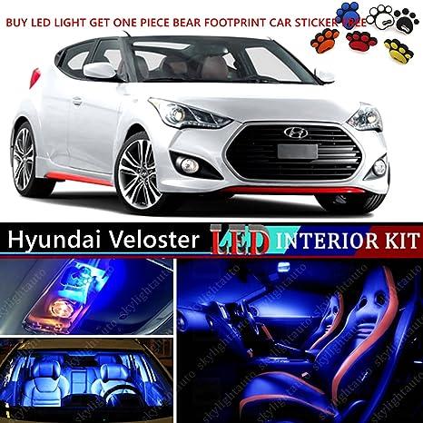 10pcs LED Premium Paquete de luz azul Interior Deal para Hyundai Veloster 2011 – 2016