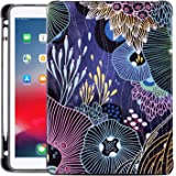 New iPad 7th Generation Case 10.2 Inch 2019, Gofupa ipad air 10.5 Premium Leather Folio Stand Cover with Built-in Apple Pencil Holder - Auto Wake/Sleep and Multiple Viewing Angles(Seabed)
