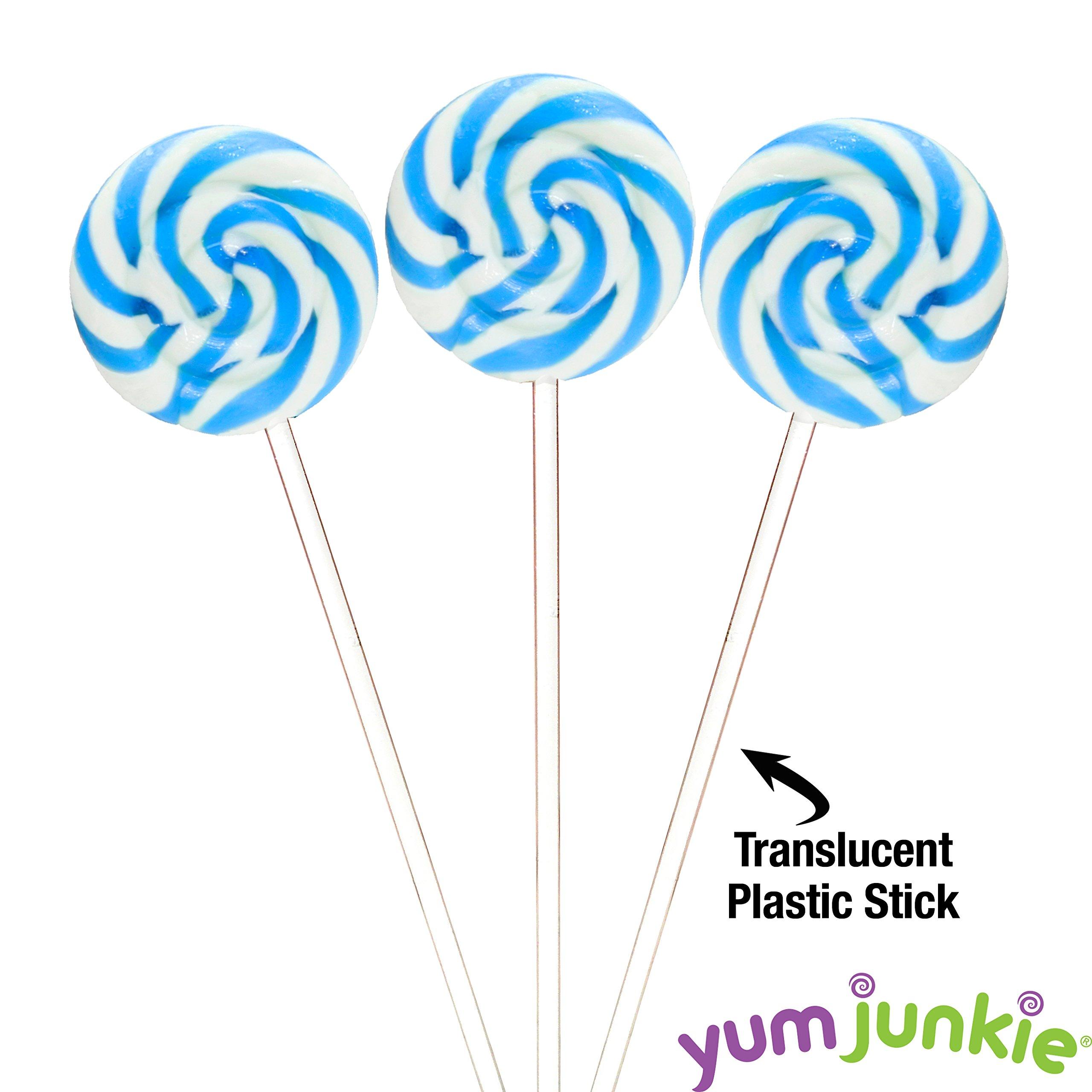 Swipple Pops Petite Swirl Ripple Lollipops - 60-Piece Tub (Blue) by YumJunkie