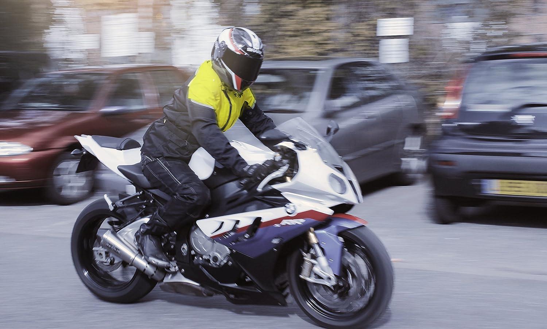Jet Motorradjacke Herren Mit Protektoren Textil Wasserdicht Winddicht Tourer M , Grau EU 48-50
