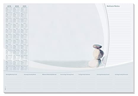 Lilac A2 30 fg. con calendario 3 anni SIGEL HO355 Sottomano da scrivania di carta 59,5 x 41 cm