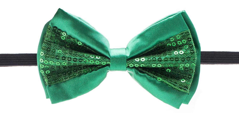 Man of Men - Half Sequin Bowties - Premium Bow Ties Bowtie - Half Sequin - Black