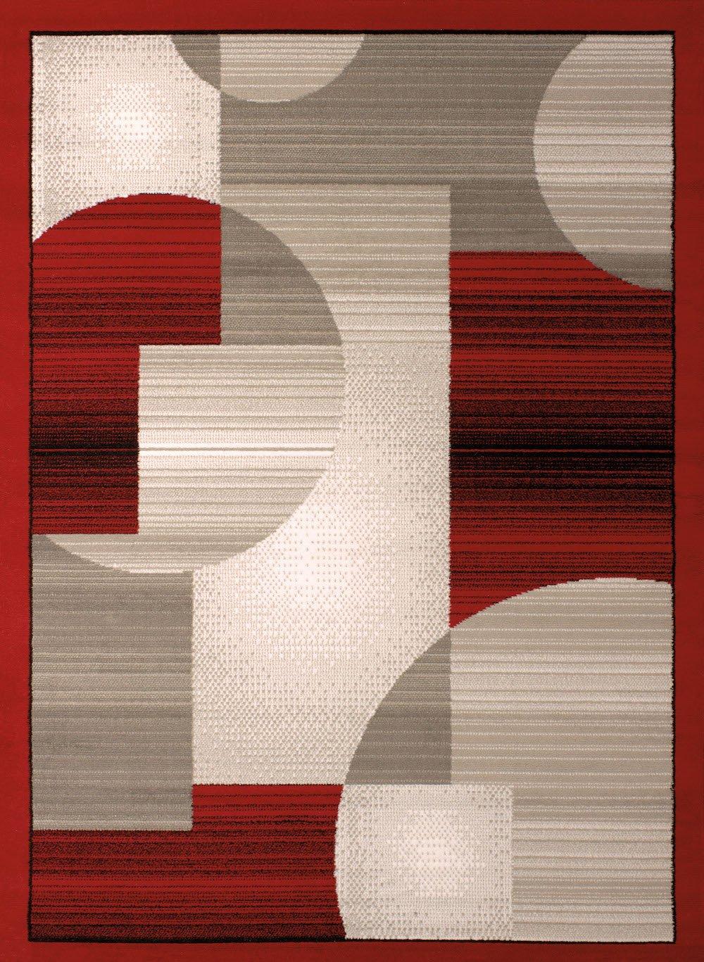 United Weavers of America Dallas Zoom Rug, 5 x 8', Red