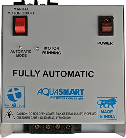 TECH AND TRADE Iron Aquasmart Fully Automatic Water Tank Alarm Overflow Controller Level Indicator