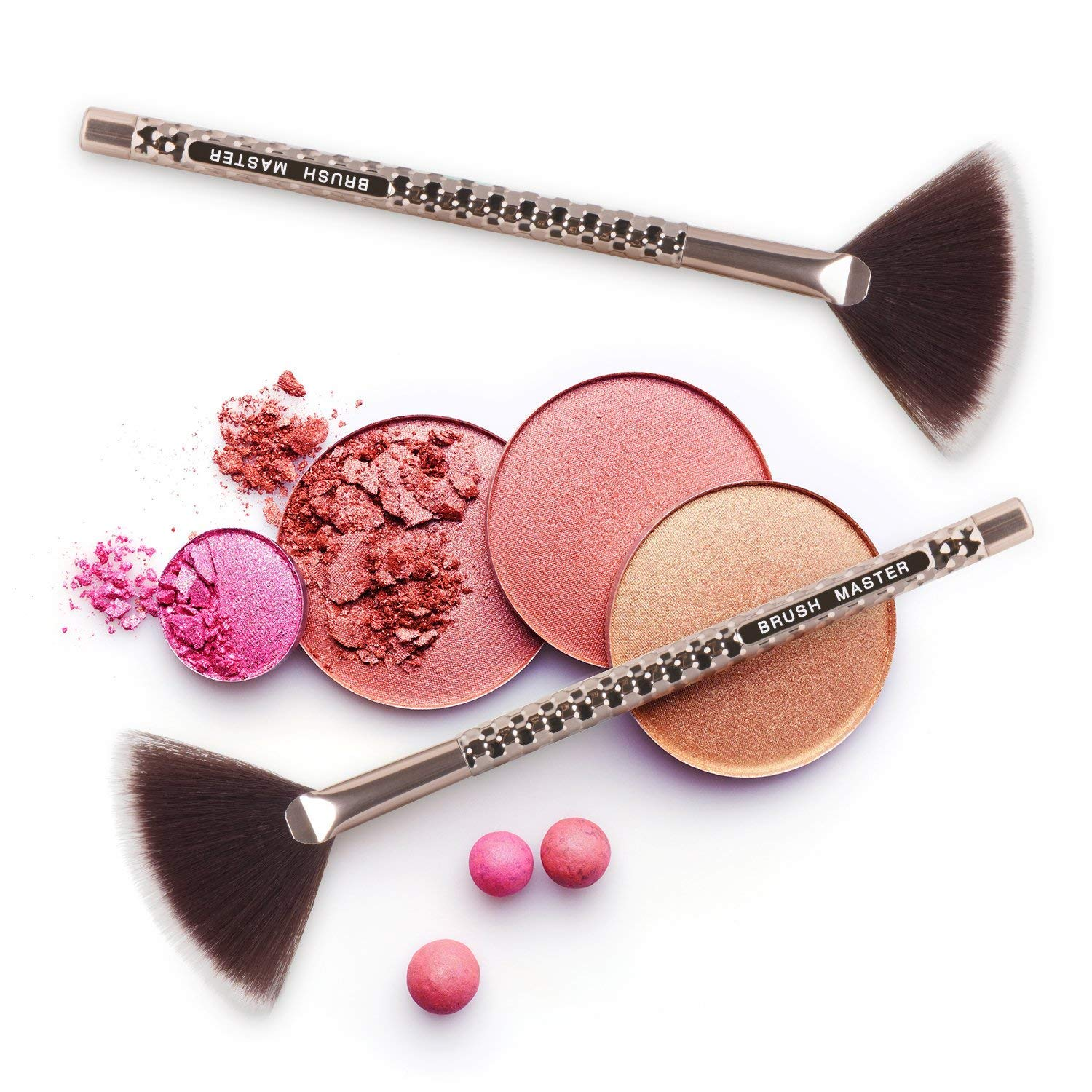 Foundation Makeup Brush Flat Kabuki — Foundation Cosmetic Contour Blending Makeup Brush — Perfect with Soft Synthetic Bristles for Liquid Cream and Powder by B M Brush Master (Image #6)