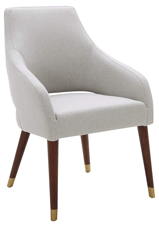 "Rivet Contemporary Dining Chair, 35""H, Felt Gray"