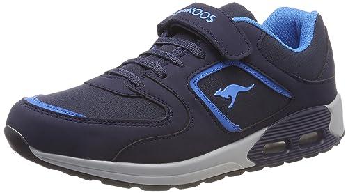 Kangaroos Kanga X 4000 EV, Zapatillas Unisex Niños, Azul (Dk Navy/Daisy Pink 4204), 37 EU