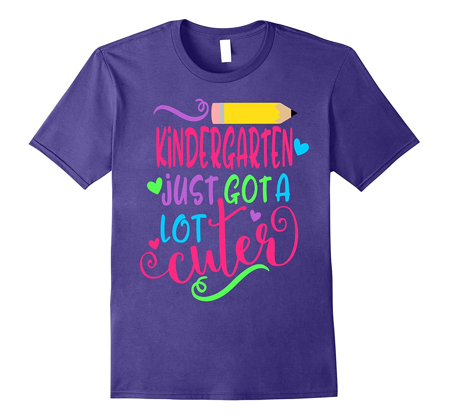 First Day of School Shirt Kids Kindergarten Just Got Cuter-BN