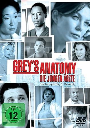 648740a48ac70 Grey s Anatomy  Die jungen Ärzte - Die komplette 2. Staffel 8 DVDs ...
