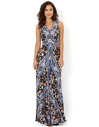 1972bf1312fa Monsoon Womens Miranda Print Maxi Dress Size 12 Multi at Amazon ...