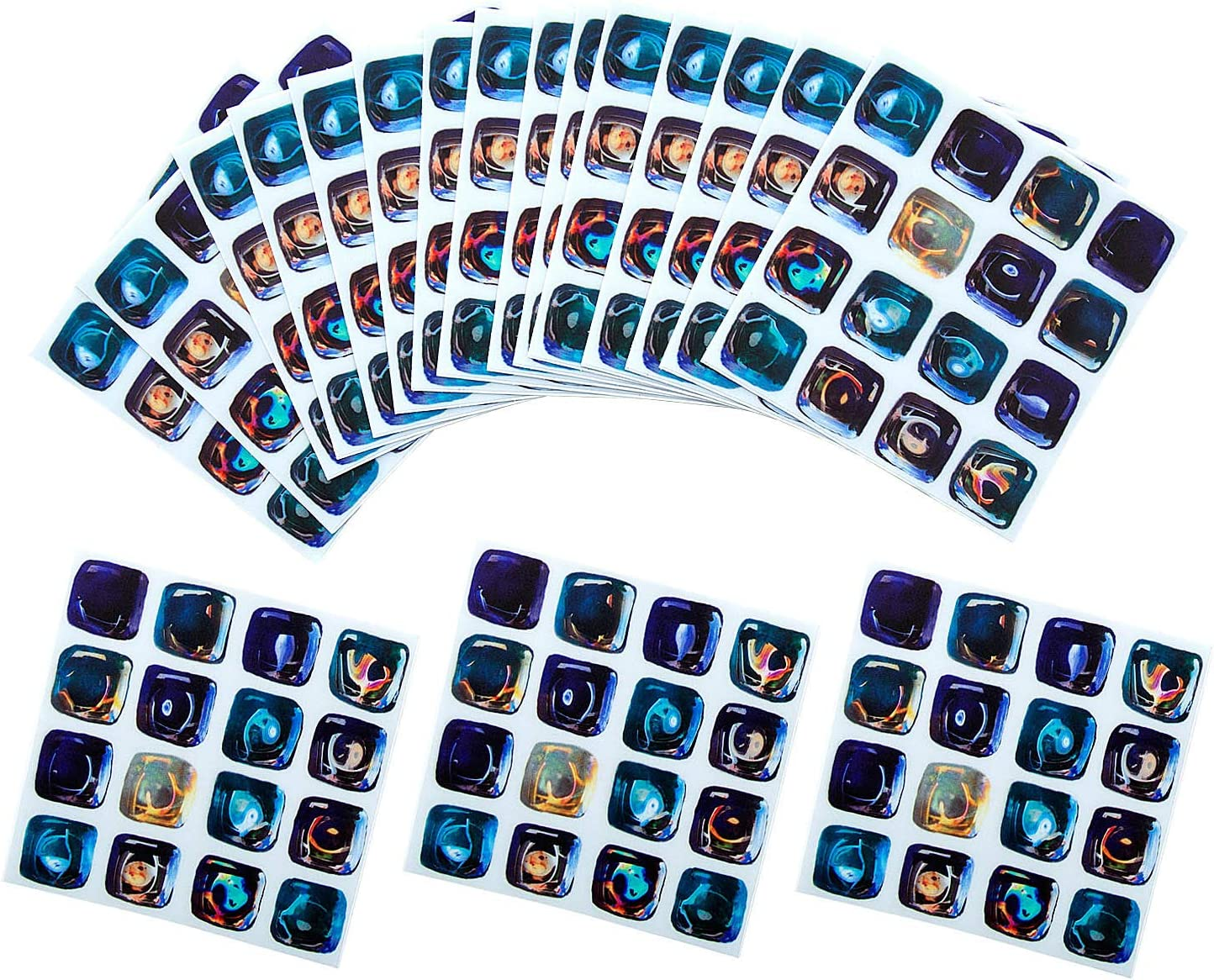 Blue Verschiedene Mosaik wandfliesen Aufkleber 18 St/ück Selbstklebende Fliesenaufkleber f/ür K/üche und Bad 10x10cm Comius Sharp 3D Tile Style Decals