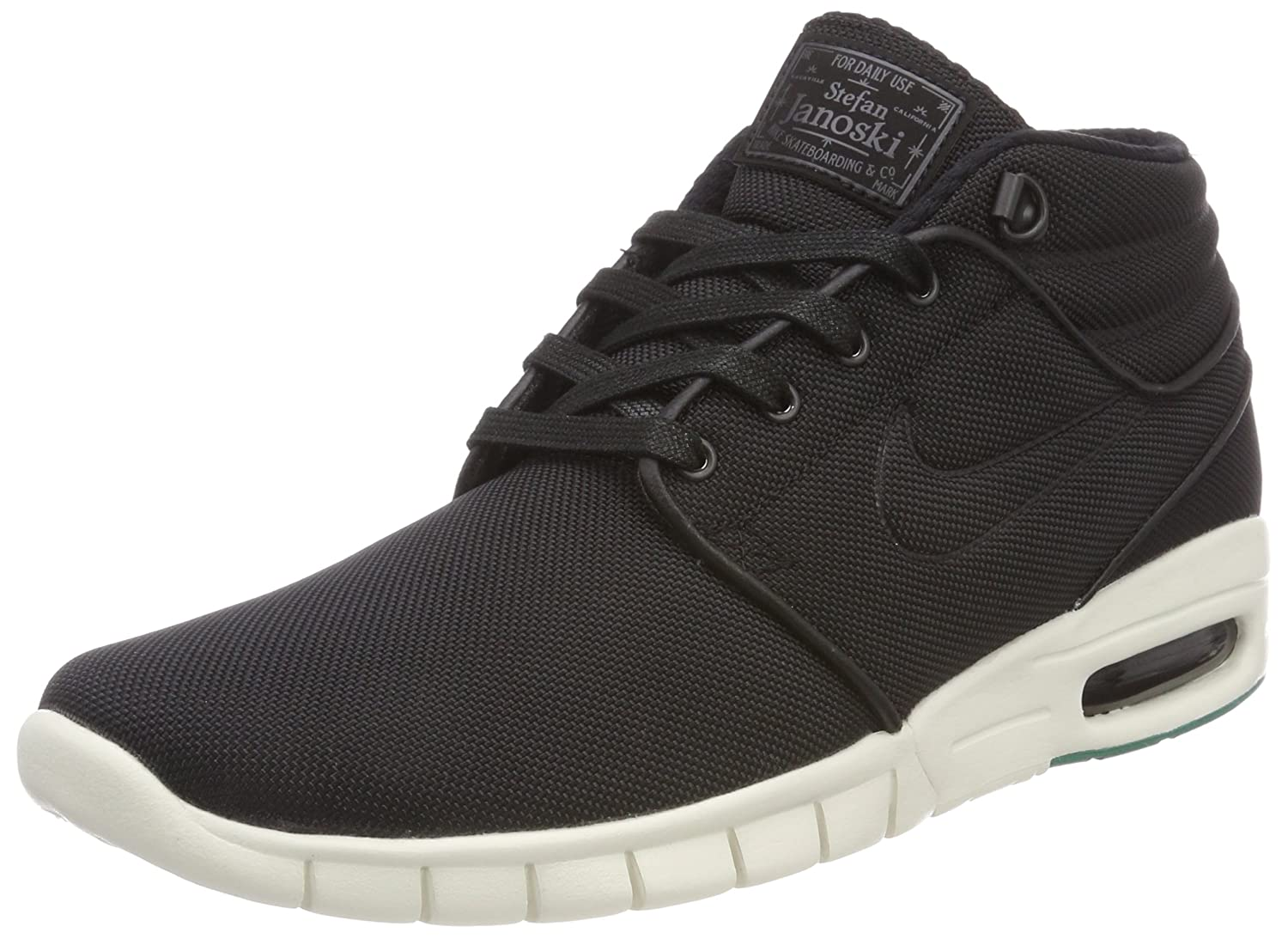 d5f5b1c6276 Nike Stefan Janoski Max Mid Mens Fashion-Sneakers 807507-003 11 - Black  Black-Neptune Green-Anthracite  Buy Online at Low Prices in India -  Amazon.in