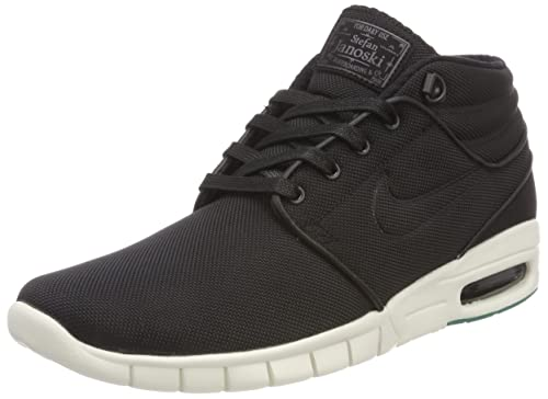 cheap for discount 125f4 9082c Nike Stefan Janoski Max Mid Mens Fashion-Sneakers 807507-003 11 - Black  Black-Neptune Green-Anthracite  Buy Online at Low Prices in India -  Amazon.in