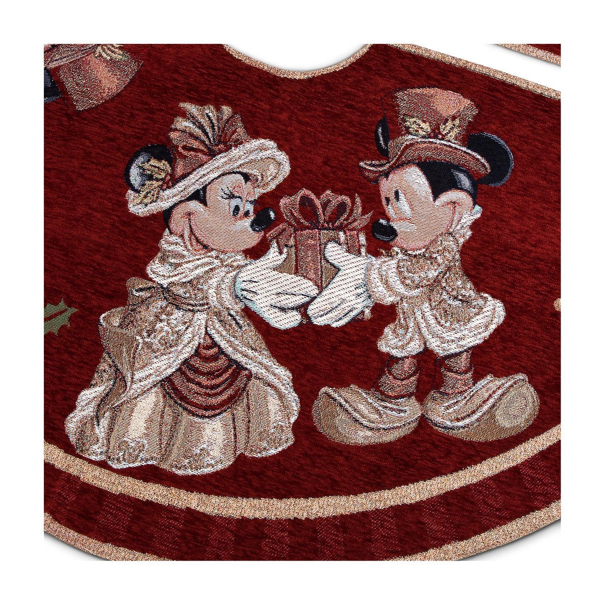 Disney Park Mickey Minnie Mouse Victorian Tapestry Christmas Holiday Tree Skirt by Disney Parks (Image #4)