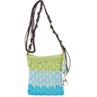 Amazon.com: Sun N Sand Conchi Natural Crochet paja Mini ...