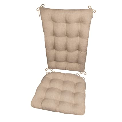 Superb Rocking Chair Cushion Set Hayden Beige Size Extra Large Reversible Latex Foam Filled Seat Pad And Back Rest Solid Color Neutral Presidential Uwap Interior Chair Design Uwaporg
