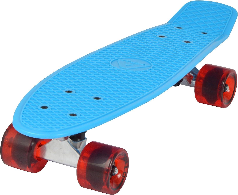 Apollo Fancy Skateboard, Vintage Mini Cruiser, Komplettboard, 22.5inch (57,15 cm)