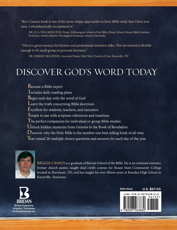 Daily Bible Study 101: Questions & Answers: Reggie Casaus: 9780997963830:  Amazon.com: Books