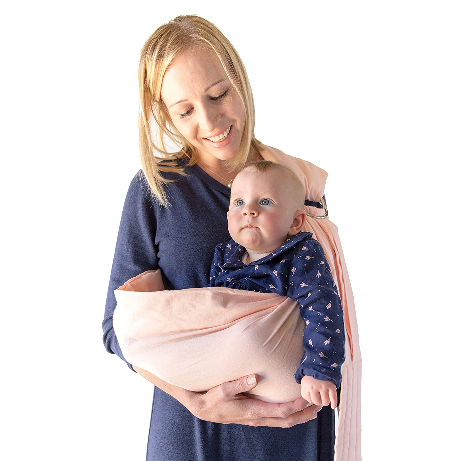 585d6db9dfc Amazon.com   Baby Wrap Carrier Ring Sling   Extra Comfortable Slings and  Wraps for Easy Wearing and Carrying of Babies