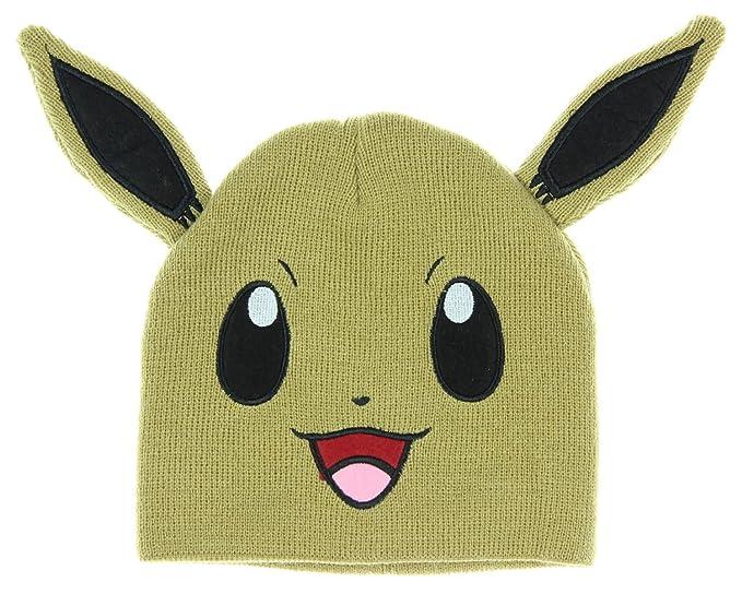 45afea222 bioWorld Pokemon Eevee Big Face Fleece Cap Beanie with Ears