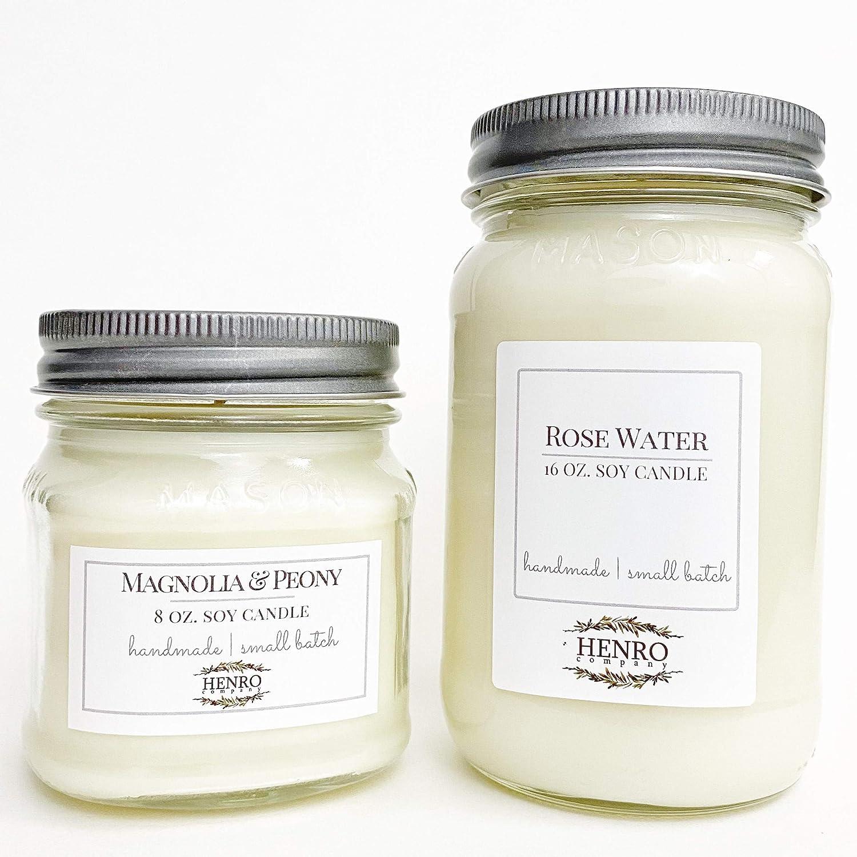 Clean Cotton type Mason Jar Soy Candle 16 oz