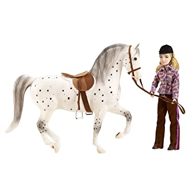 "Breyer ""Let's Go Riding"" English - Traditional Toy Horse Model with Rider (Colors May Vary): Toys & Games"