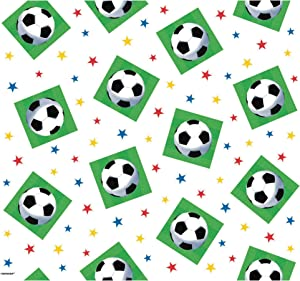 amscan Soccer Championship Printed Plastic Party Table Cover