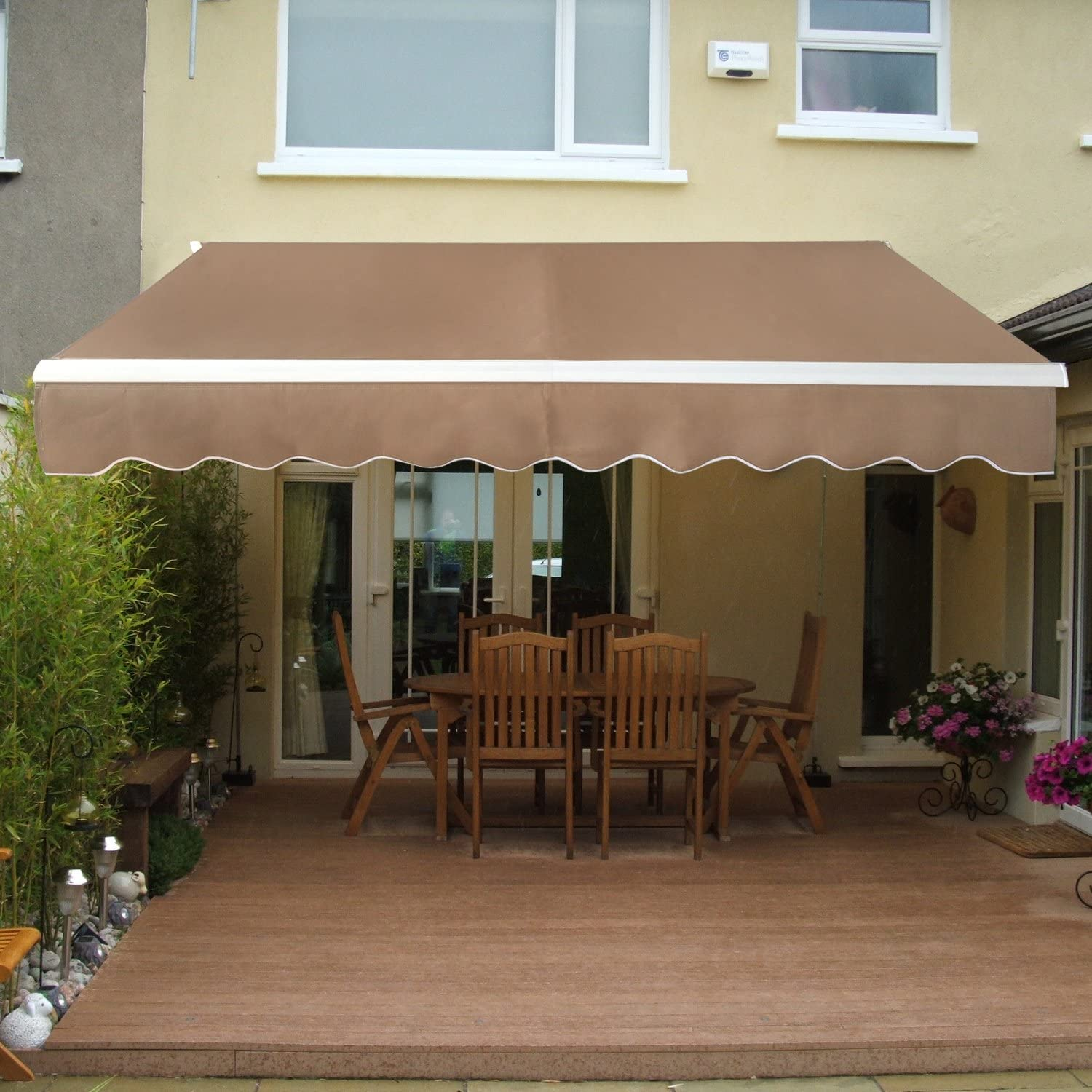 SUPER DEAL Manual Retractable Patio Deck Awning.  sc 1 st  Amazon.com & Patio Awnings | Amazon.com