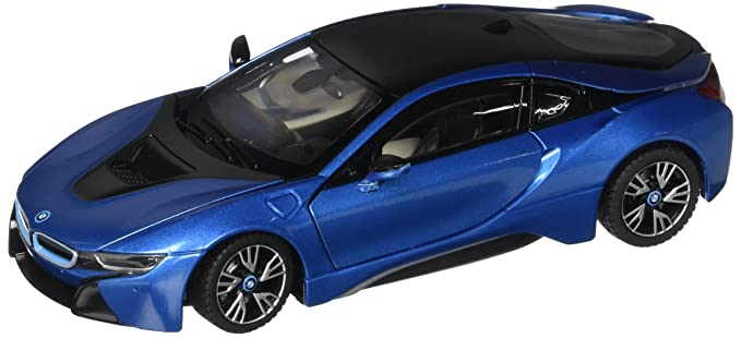Amazon Com Rastar 1 24 Rc Radio Control Blue Bmw I8 Licensed W