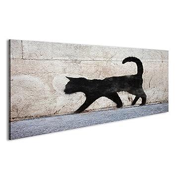 islandburner Cuadro Cuadros Esbozo de Graffiti de un Gato Negro en el París Urbana. Impresión sobre Lienzo - Formato Grande - Cuadros Modernos Elf: ...