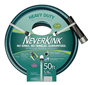 Teknor Apex 100519499 NeverKink 8615-50, Heavy Duty Garden Hose, 5/8-Inch by 50-Feet