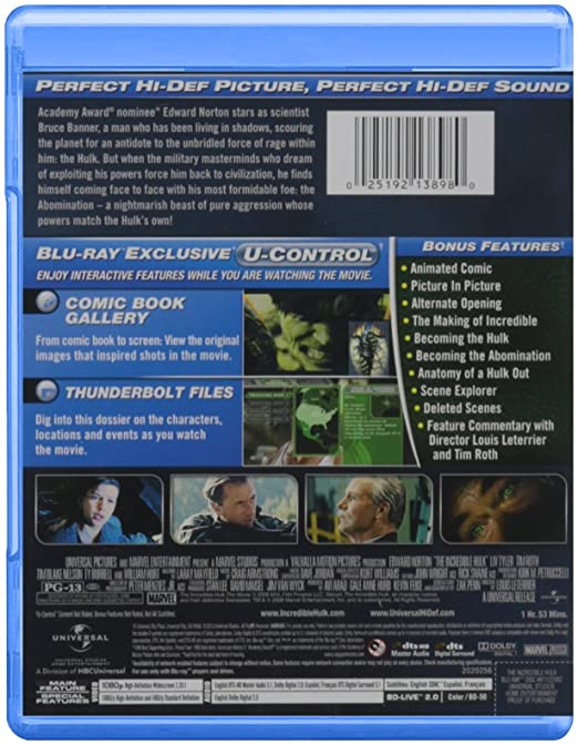 Amazoncom The Incredible Hulk Bluray Edward Norton Liv - 23 actors get character incredible