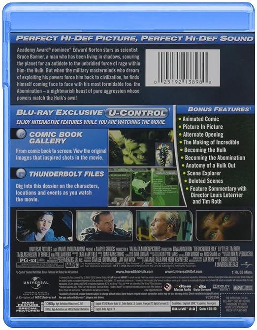 Amazoncom The Incredible Hulk Bluray Edward Norton Liv - 23 actors get character incredible