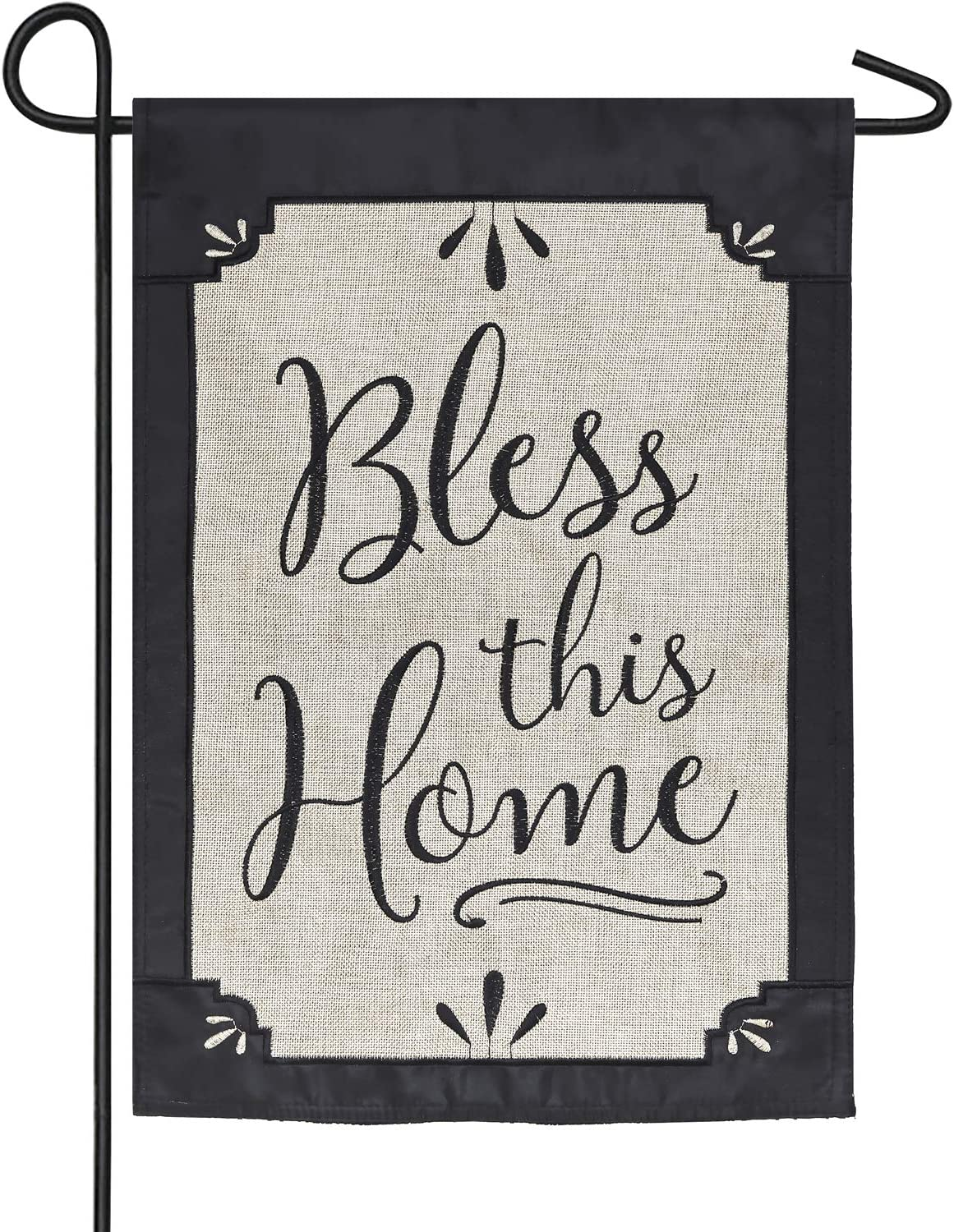 Evergreen Flag Bless This Home Burlap Garden Flag - 12.5 x 18 Inches Outdoor Decor for Homes and Gardens
