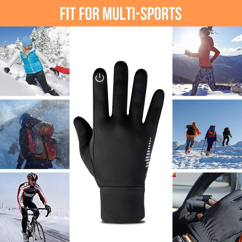 Sci e Ciclismo per Uomo e Donna Running SUPRBIRD Guanti Touch Invernali per Smartphone Impermeabili Termici Antiscivolo per attivit/à all/'Aperto Trekking