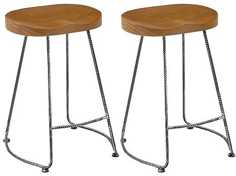 Marvelous Amazon Com Btexpert 5086 2 Industrial 24 Antique Rebar Machost Co Dining Chair Design Ideas Machostcouk