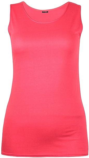 Purple Hanger Damen Übergröße Ärmellos Damen Stretch Einfarbige Weste Lange  Tunika T-Shirt Oberteil: Amazon.de: Bekleidung