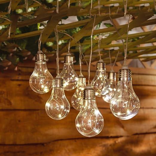 Solalite® - guirnalda de luces LED para interior y exterior, 10 Bombillas con