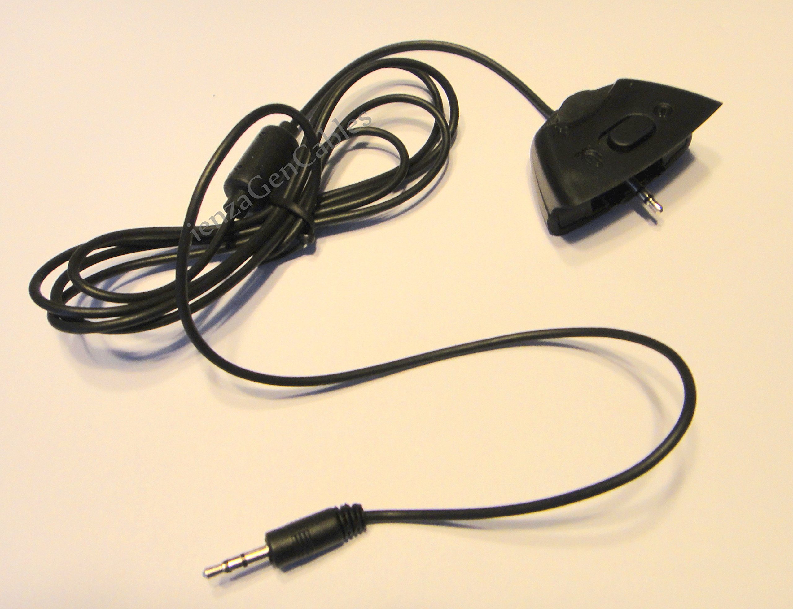 New! ienza® 2.5mm to 3.5mm Xbox 360 Live Talkback / Chat Cable Puck for Tritton® Headsets