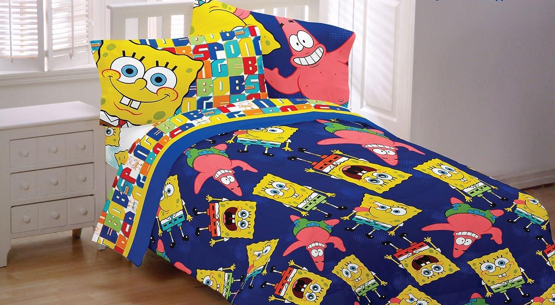 Great Amazon.com: Spongebob Patrick Twin Sheet Set Dark Blue Bedding: Home U0026  Kitchen