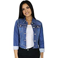 dbd526ad386 StyLeUp Women s Classic Casual Vintage Denim Jean Jacket Vest Regular    Plus Size
