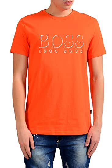 82cae57277 Image Unavailable. Image not available for. Color: Hugo Boss Shirt SSRN BM  Men's Orange ...
