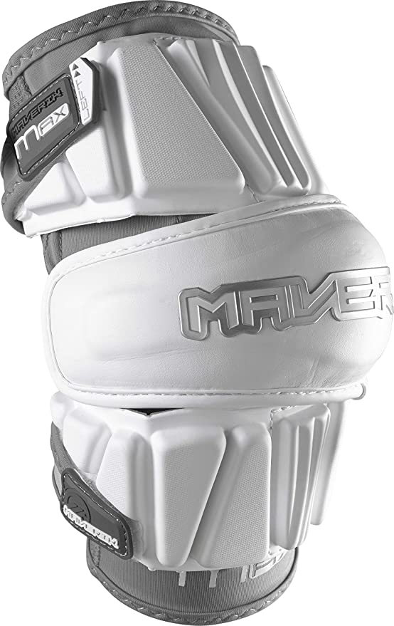 Maverik Lacrosse Max Arm Pad White - Maximum Protection for Experienced Players