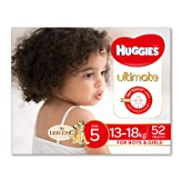 Huggies Ultimate Nappies, Unisex, Size 5 (13-18kg), 52 Count