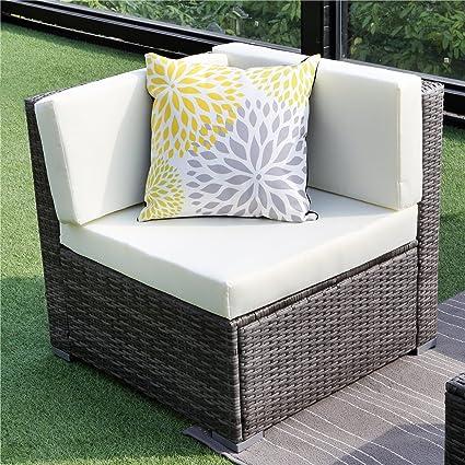 Amazon.com: Wisteria Lane Outdoor Patio Sofa Corner Sofa - 2 ...