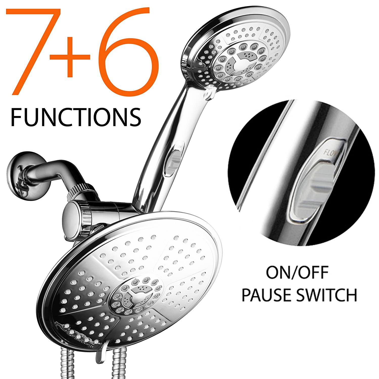 DreamSpa 38-Setting 3-Way Rainfall Showerhead / Handheld Shower ...