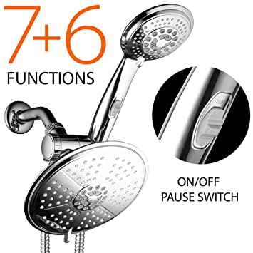 38-Setting 3-Way Rainfall Combo by DreamSpa features 6-setting 7 ...